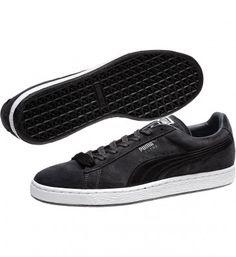 Tênis Puma Men s 356328-03 Roma SL Nubuck 2 Sneakers Dark Shadow Black   Tênis  Puma 6cc5afb783b