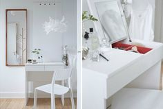 Two mirrors: Problem solved (for those who have mirror hoarders in the family.)