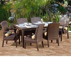 """Costa Rica 7-pc Dining Collection by Mission Hills® Includes: 2 Arm Chairs, 4 Dining Chairs and 64"""" x 40"""" Dining Table . $2999.98"""