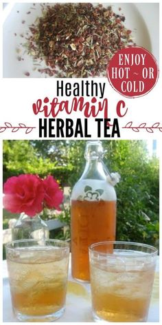 """Flu Remedies Healthy Vitamin C Herbal Tea is high in vitamin C and bioflavonoids. It's refreshing on a hot summer day and great to have on hand during cold and flu """"season"""". Natural Cough Remedies, Flu Remedies, Herbal Remedies, Natural Medicine, Herbal Medicine, Vitamin C, Tea Recipes, Real Food Recipes, Sushi"""