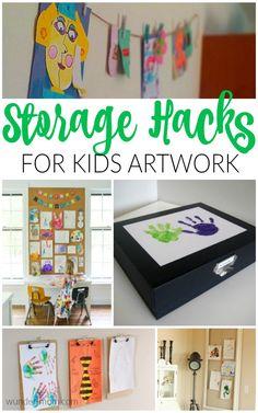 Genius Storage Hacks For Kids Artwork