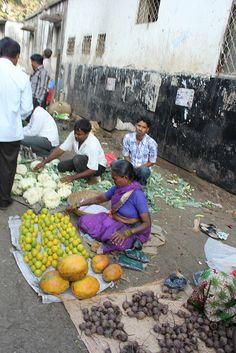 Dadar Station Vegetable Hawkers by firoze shakir photographerno1, via Flickr