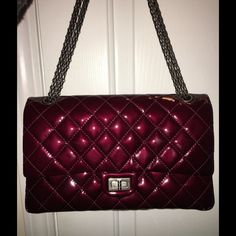 Chanel 226 reissue Bordeaux Patent STUNNING Bordeaux patent double flap reissue. Box & dust bag included, but do not have authenticity card. CHANEL Bags Shoulder Bags