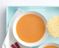 Roasted-Tomato Soup with Parmesan Wafers#Repin By:Pinterest++ for iPad#