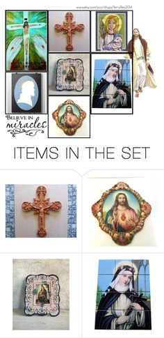 """Religious Art on Etsy by TerryTiles2014 - Volume 414"" by terrytiles2014 on Polyvore featuring arte, etsy, art, catholic e religious"