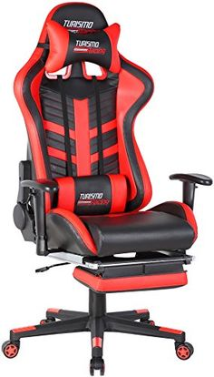 Turismo Racing Modena Series Gaming Chair Black And Red Ergonomic Gaming  Bucket Lumbar Support Executive Computer