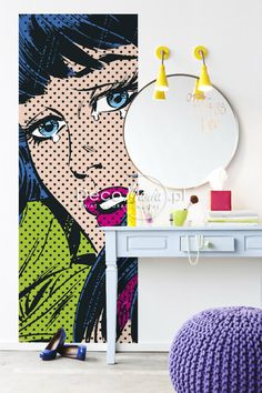 Pop-art interior with Komar - Marvel Series. Find more on: http://www.decomania.pl/pl/c/Fototapety-Disney-i-Marvel/320