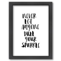 Americanflat ''Never Let Anyone Dull Your Sparkle'' Framed Wall Art, Multicolor