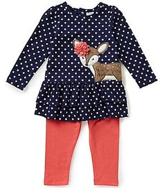 Starting Out Baby Girls 12-24 Months Dotted Fawn Tunic & Leggings Set