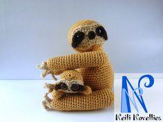 Mom&child sloth, made with Mevv San pattern, http://mevvsan.com/