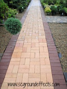 pavers for a walkway instead of poured cement.