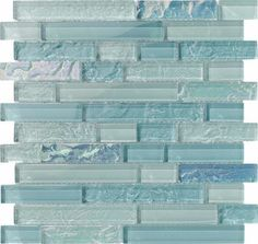 Glass Pool Mosaic Tile Sea Foam Linear Blend for swimming pool, shower walls, backsplash, Jacuzzi, and spa. Made with translucent glass for a better reflection effect under water. This mosaic tile is mesh mounted and sold by the sheet.