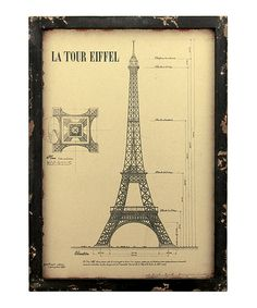Look what I found on #zulily! Vintage Eiffel Tower Wall Art by Stonebriar Collection  #zulilyfinds