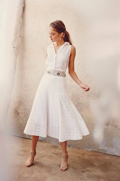 77c8cd9f05 For Kathryn  Whole Look but with flats instead of heels Windowpane Midi  Skirt