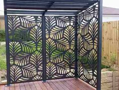 Decorative Panels Our high quality Habitat Decorative Panels are manufactured from aluminium that will not rust, warp or rot, guaranteeing you years of maintenance free enjoyment. Habitat Decorative Panels are perfect for both internal or externa Outdoor Screen Panels, Privacy Panels, Patio Privacy, Pergola Patio, Backyard Patio, Backyard Landscaping, Pergola Screens, Pergola Kits, Outdoor Walls