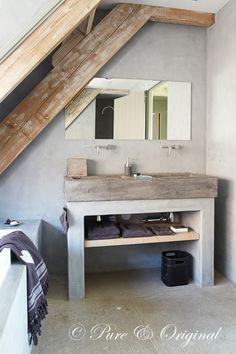 taderlakt verf badkamer of betonlook