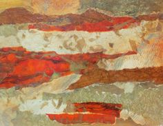 Driftwood ....collage papers, copper foil, acrylic paint