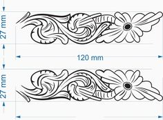 drawings patterns for carving in leather Tandy Leather, Leather Art, Leather Tooling, Diy Leather Projects, Leather Craft Tools, Custom Leather Belts, Leather Working Patterns, Leather Carving, Leather Workshop