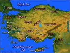 ASIA MENOR (actuales costas turcas, Siria y Mar Negro)