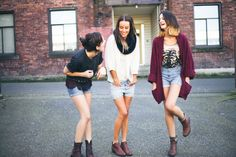 we love shorts & boots for spring! // Treasures & Travels Blog