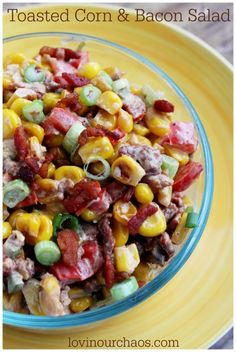 Easy Toasted Corn Salad with Bacon