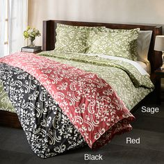 @Overstock - This 100-percent cotton Sicily duvet cover set brings a fresh look to the bedroom. Each option features a contemporary pattern, single ply construction and a soft, durable sateen finish.http://www.overstock.com/Bedding-Bath/Sicily-300-Thread-Count-3-Piece-Duvet-Cover-Set/7322239/product.html?CID=214117 $29.99