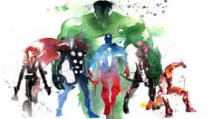 Avenger Watercolor, awesome work here...