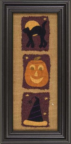 Autumn, Seasons In Wool, wool appliqued and embroidered