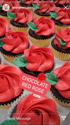 Red Roses, Cupcakes, Sweets, Chocolate, Cupcake Cakes, Gummi Candy, Candy, Goodies, Chocolates