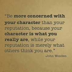 Be of good character