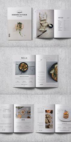 Layout Ideen Cookbook / Recipe Book Template You Layout Design, Print Layout, Menu Design, Food Design, Ui Design, Recipe Book Templates, Cookbook Template, Recipe Book Design, Cookbook Design