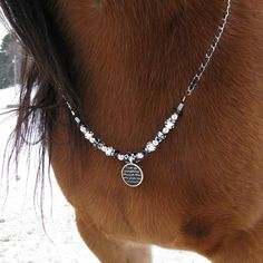 Rhythm Beaded Trinkett Necklace for Your Horse by HoughtonStudio, $62.00