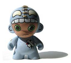 Blue Monster Suit Mini Munny by KillTaupe