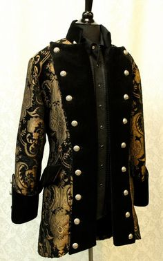 VERSAILLES COAT - BLACK AND GOLD TAPESTRY