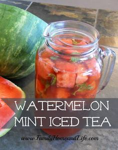Family Home and Life: Watermelon Mint Iced Tea