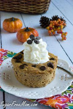 Sugar-Free Pumpkin Pie Chocolate chip Mug cake