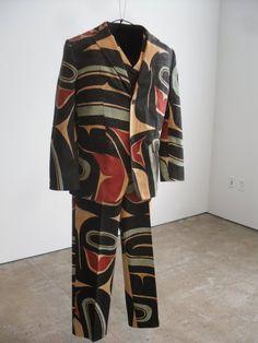 Tommy Joseph (Tlingit, Alaska), Tlingit Suit, paint/linen, c. 2008.