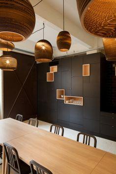 corrugated cardboard :: light shade :: Inside Pinkeyes New Design Studio