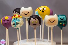 Adventure Time cake pops - SOOO making these! Adventure Time Cupcakes, Adventure Time Birthday Party, Adventure Time Parties, Beautiful Cakes, Amazing Cakes, Cake Pops, Cute Cupcakes, Unique Recipes, Celebration Cakes