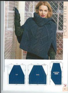 Poncho tejido - Knitted poncho