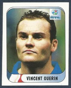 MERLIN-EURO 96- #154-FRANCE-VINCENT Guerin - EUR 1,55. This sticker is from The MERLIN 1996 UEFA EURO 96 Collection. There are 330 stickers in the set. Size:-Approx 70mm x 65mm. Condition-High Quality-crease free-see scan. The front has the players photo,with badges shown  name. Original backs in tact. The reverse has the players no.  Manufacturers name  logo. PP UK 95p.Europe £1.70.Non EU £2.50. Same price for one item or multiple orders,dependent on requesting an invoice on completion of p Ac Milan, Manchester United, France 98, Euro 96, Celtic, Name Logo, Merlin, Badges, Conditioner