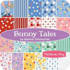 Bunny Tales Fat Quarter Bundle<BR>Darlene Zimmerman for Robert Kaufman Fabrics