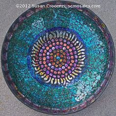 Susan Crocenzi, Contemporary Mosaic Art - Vortex Bowl