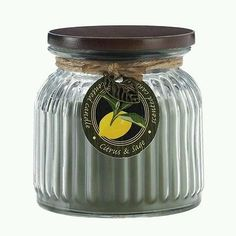 New Rare Scent Citrus & Sage Home Fragrance Bathroom Candle 16 oz
