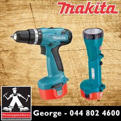 Become the Makita Specialist, with these wonderful deals, such as Makita Cordless Impact Drill with Torch Kit only R2350! Available from Pennypinchers George #makita #specials #gardenroute
