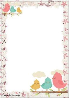 Spring is here Borders For Paper, Borders And Frames, Printable Crafts, Printable Paper, Printables, Printable Border, Diy And Crafts, Paper Crafts, Baby Frame
