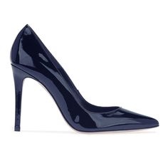 Queen Letizia Magrit  Mila navy leather pumps