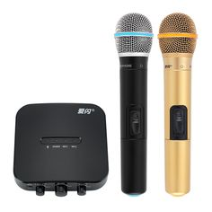 Car Karaoke Machine - Wireless Microphone, Bluetooth Battery, Echo Mixer, MCU Chipset - This car karaoke machine comes with two wireless microphones. It lets you sing your favorite songs together with friends and family on holiday. Camping Gadgets, Car Gadgets, Electronics Gadgets, Karaoke, Best Online Clothing Stores, Bluetooth, Mixer, Cool Stuff, Online Shopping