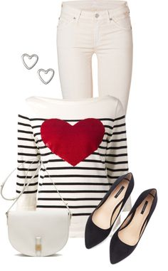 Simple cute valentine outfit