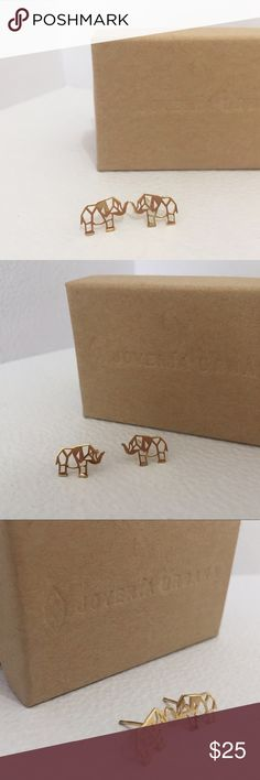 18K gold and .925 silver origami 🐘 earrings. Delicate 18K plated gold and .925 silver origami elephant earrings. Hand made. They are delicate and sweet. Jewelry Earrings